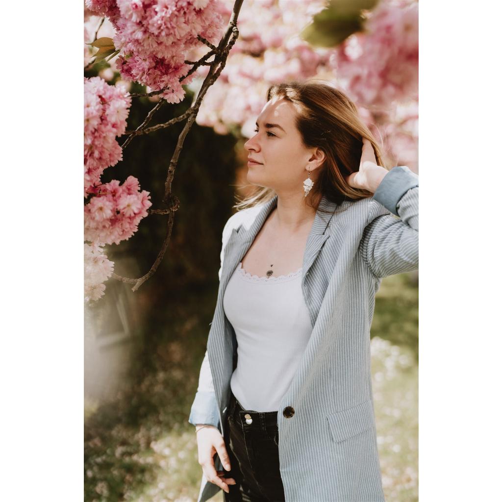 Mairi svatební květinové náušnice Rhona