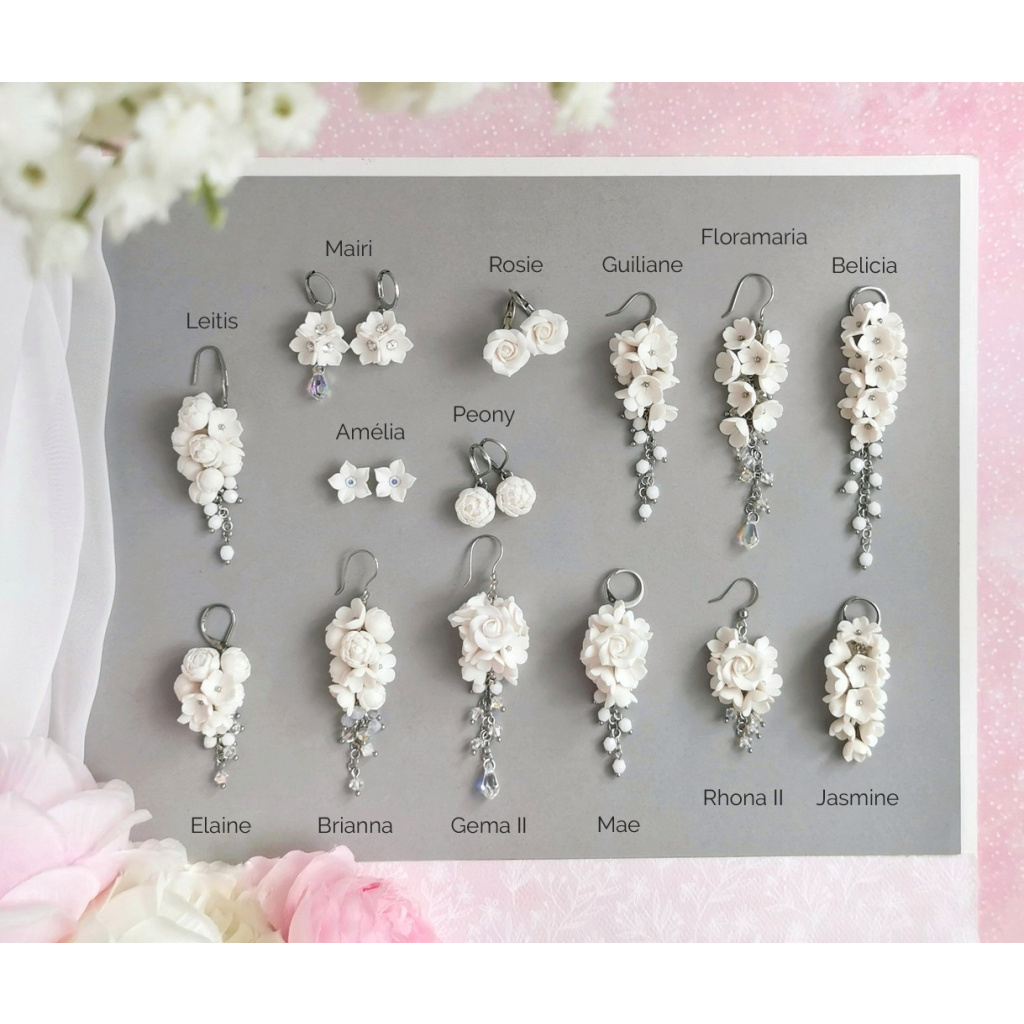 Mairi náušnice růžičky růže 03