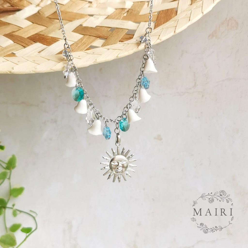 Mairi námořnický náhrdelník s květinami 03