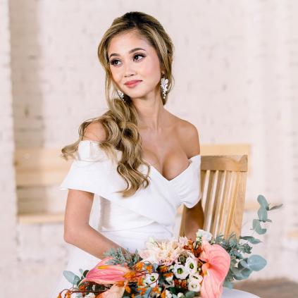 Mairi svatební květinové náušnice Mae