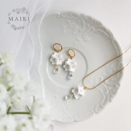 Mairi pozlacená sada svatebních šperků se Swarovski