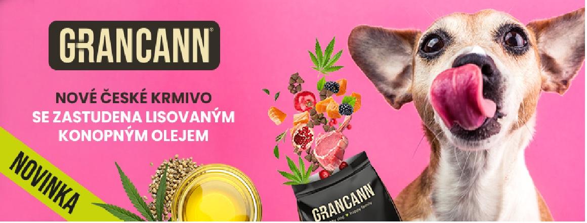 Novinka v prodeji - Granule pro psy Grancann s konopným olejem