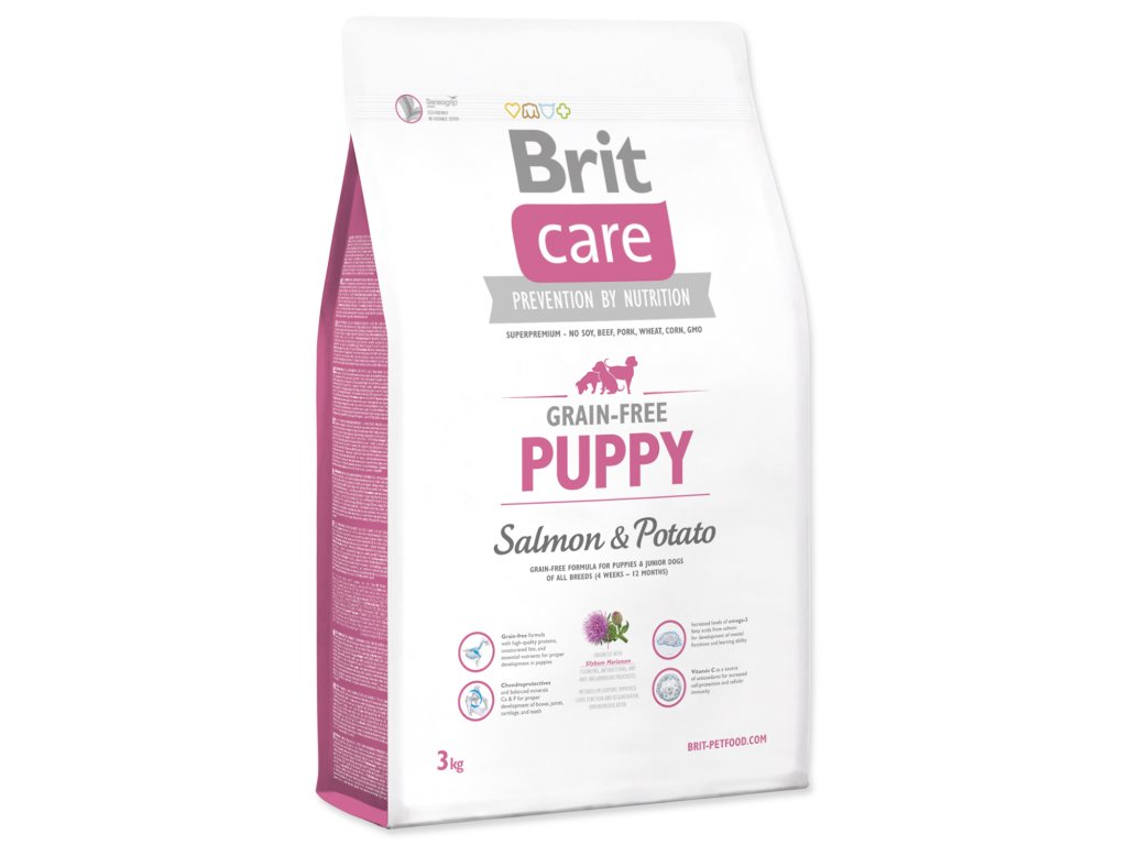 1001 1 brit care grain free puppy salmon potato 3 kg