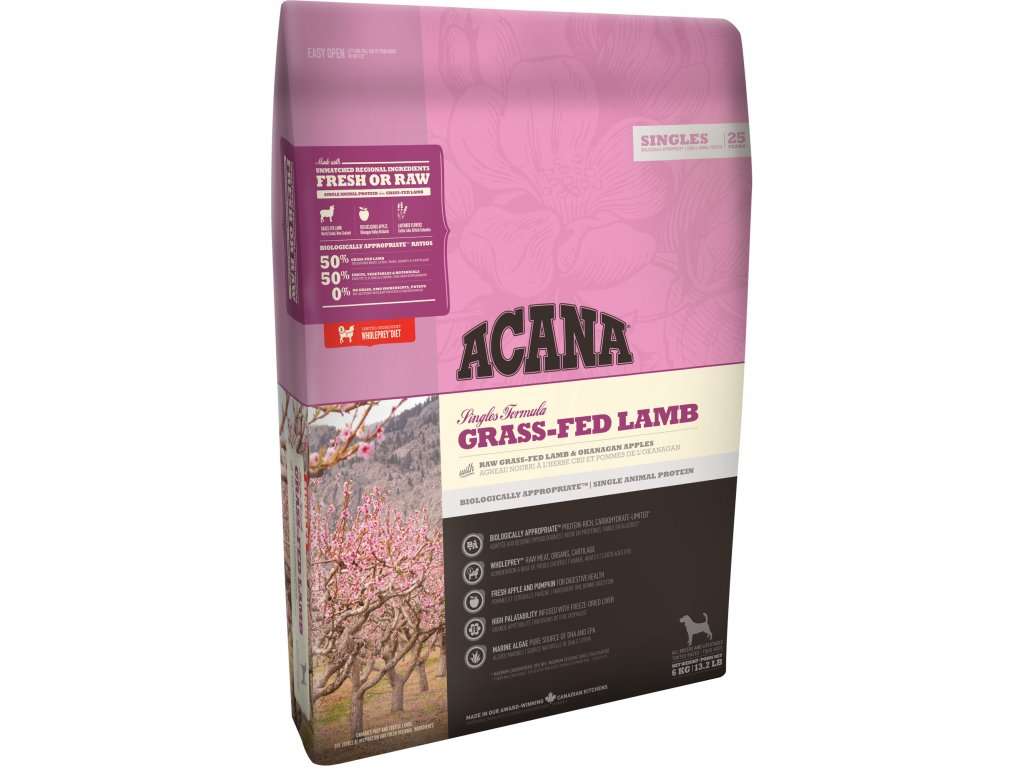 4409 acana singles grass fed lamb 2 kg