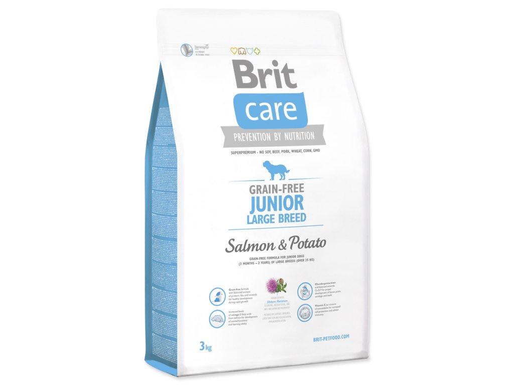 1010 1 brit care grain free junior large breed salmon potato 3 kg