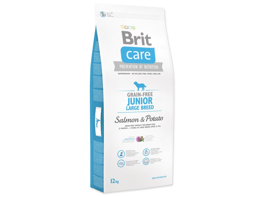 1013 1 brit care grain free junior large breed salmon potato 12 kg