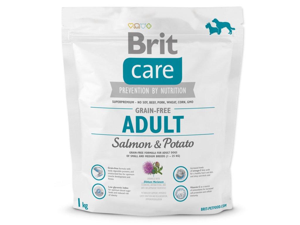 1016 1 brit care grain free adult salmon potato 1 kg