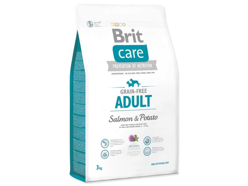 1019 1 brit care grain free adult salmon potato 3 kg