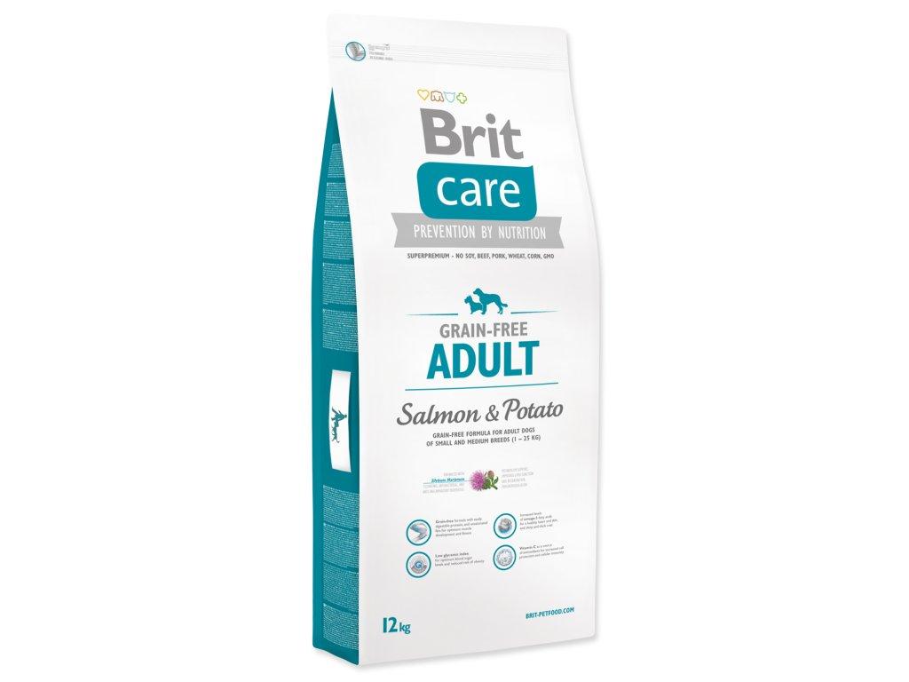 1022 1 brit care grain free adult salmon potato 12 kg