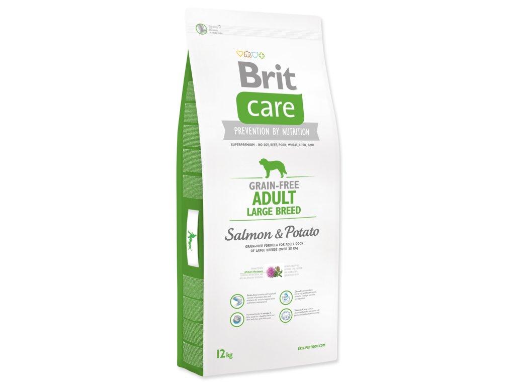 1031 1 brit care grain free adult large breed salmon potato 12 kg