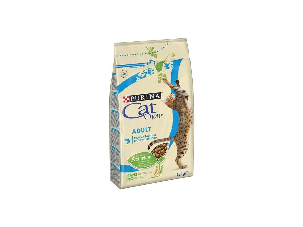 CAT CHOW ADULT losos a tuňák 1,5 kg