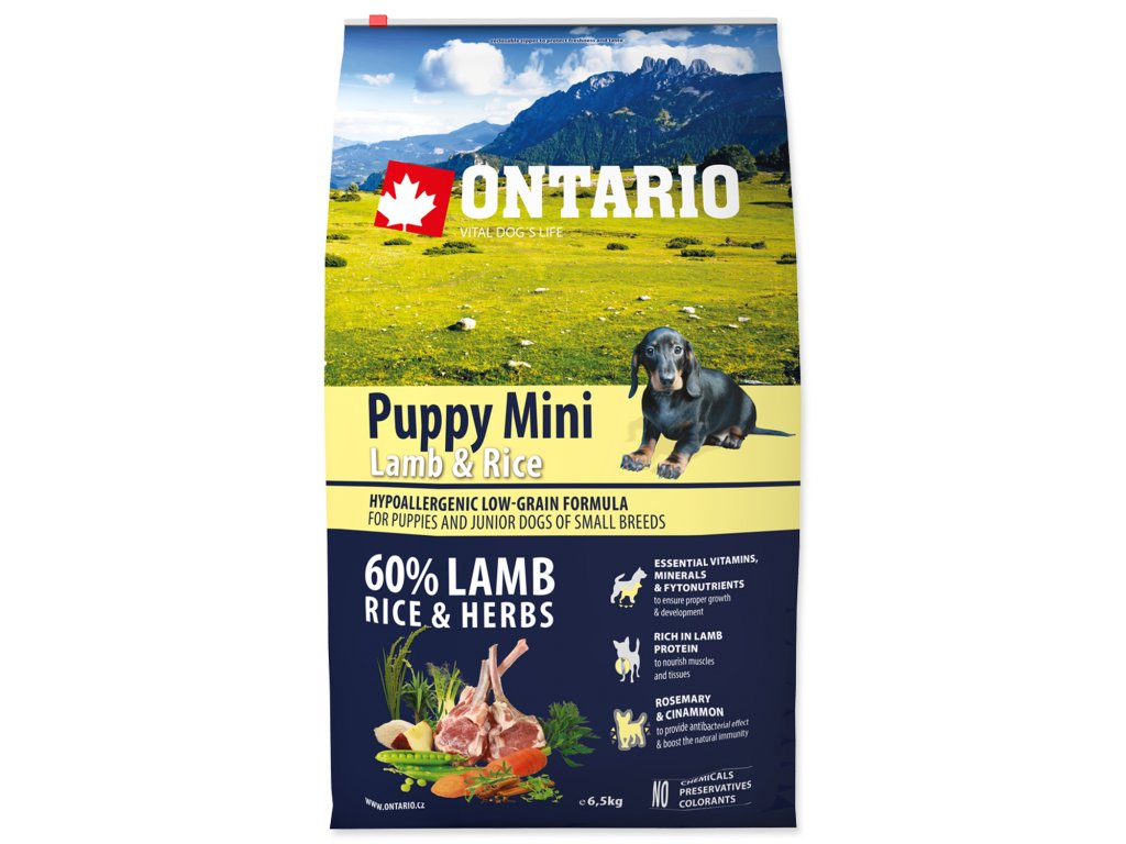 1094 ontario puppy mini lamb rice 6 5 kg