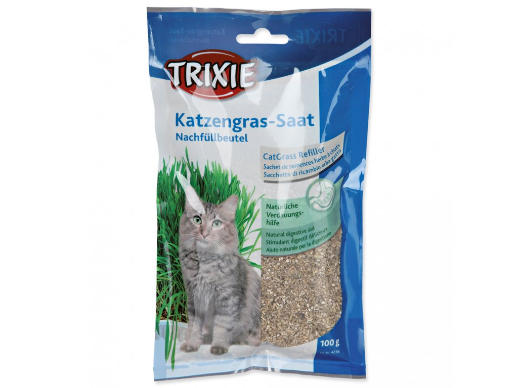 Tráva pro kočky Trixie sáček 100 g