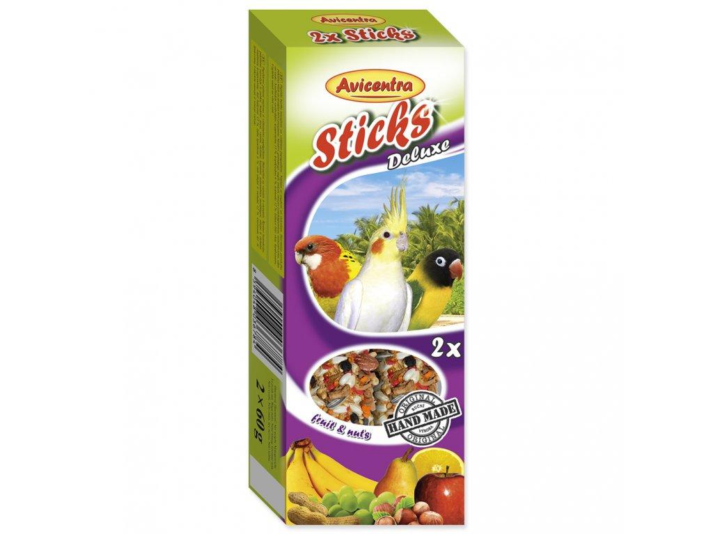 113 1 Avicentra tycinky s ovocem a orechy pro male a stredni papousky 2 ks
