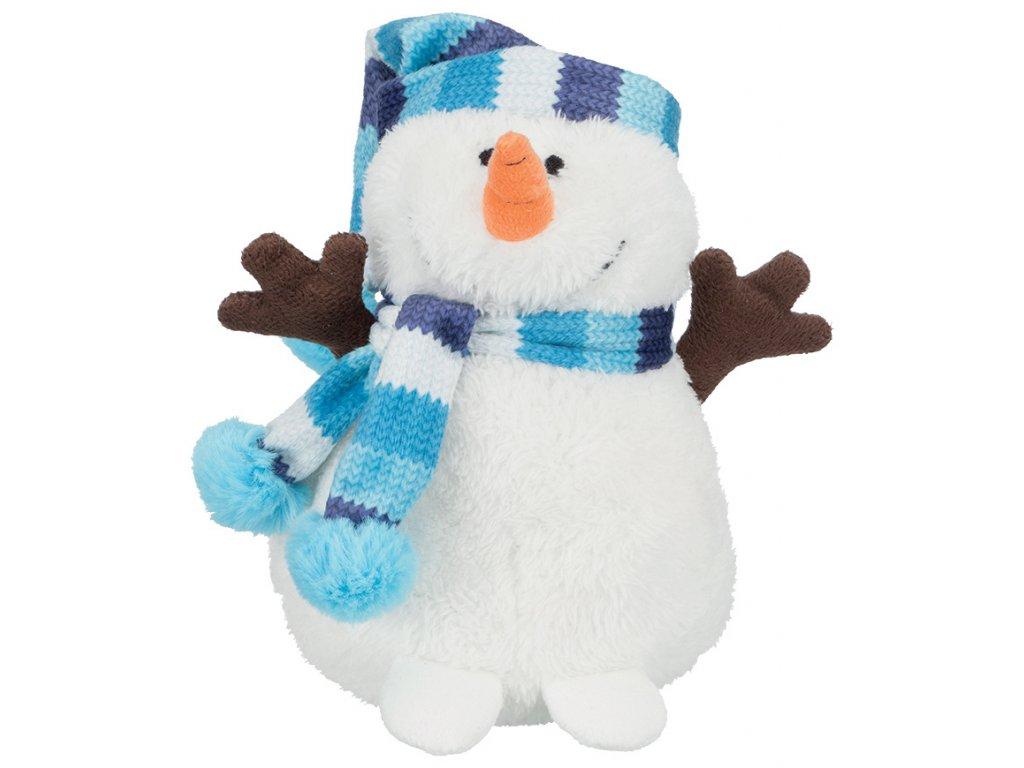 Trixie Vánoční Sněhulák s modrou šálou 17cm