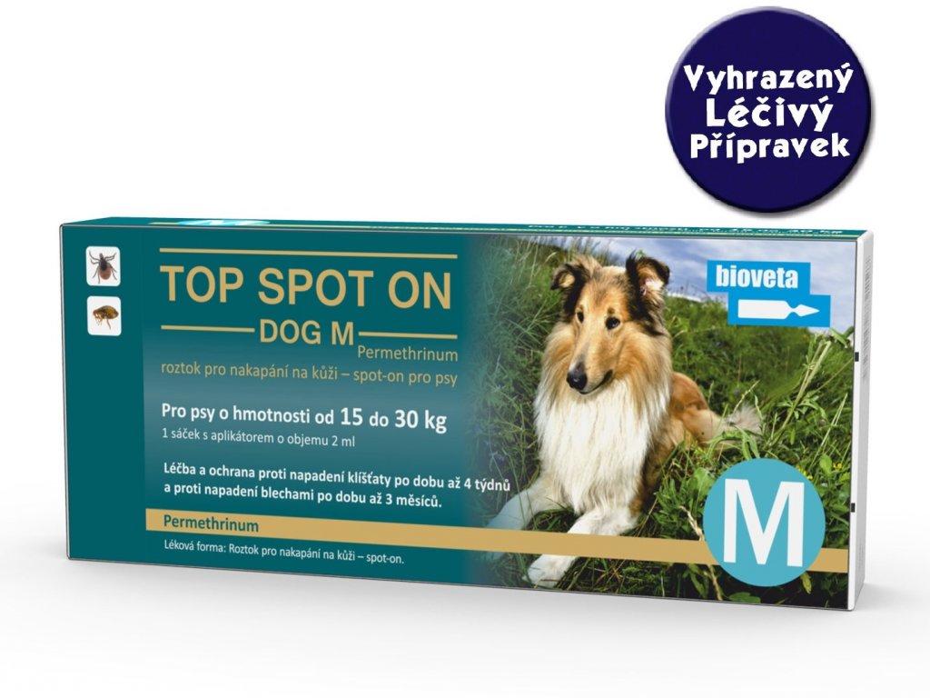 Bioveta TOP Spot on Stronger Dog S 1x2 ml (od 15 kg do 30 kg)