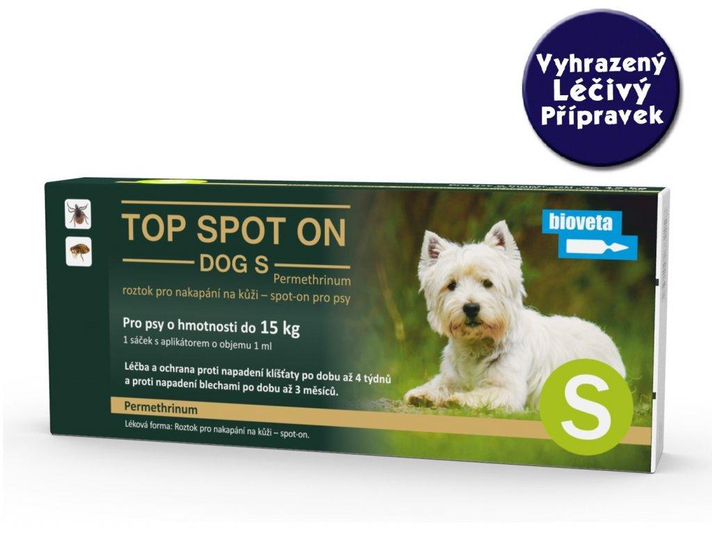 Bioveta TOP Spot on Stronger Dog S 1x1 ml (do 15 kg)