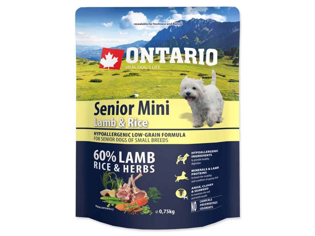 1163 ontario senior mini lamb rice 0 75 kg