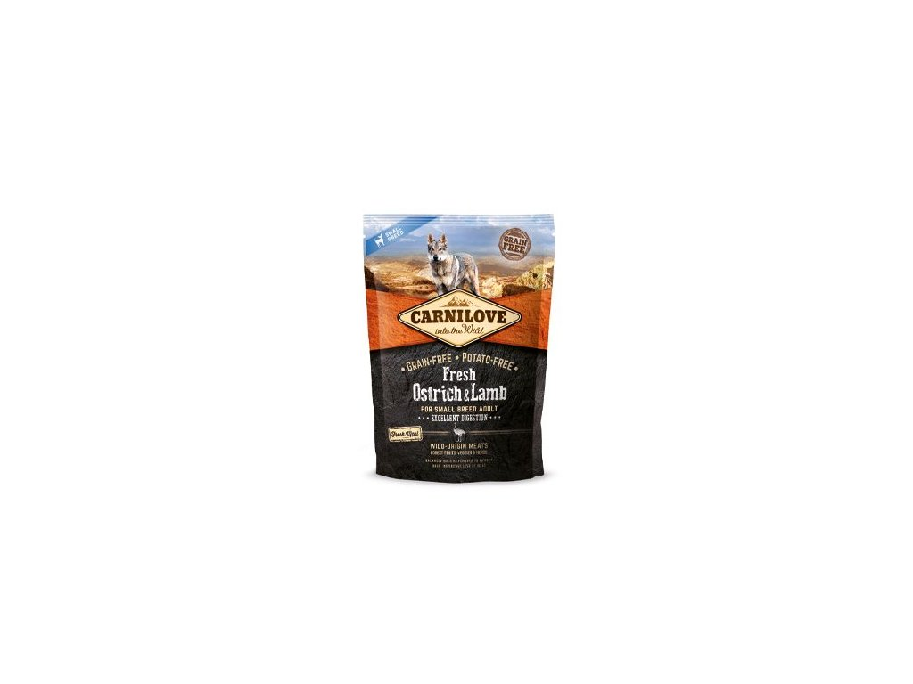 Carnilove Dog Fresh Ostrich&Lamb for Small Breed 1.5 kg