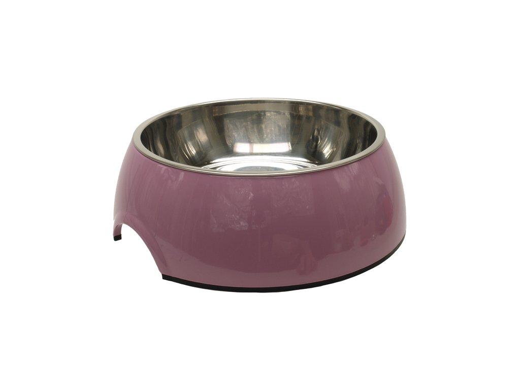 Miska DOG FANTASY nerezová kulatá růžová 27 cm