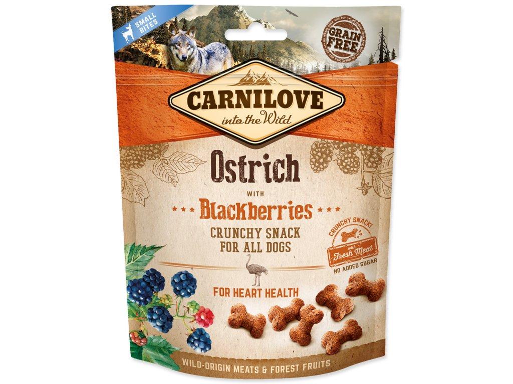 Carnilove Crunchy Ostrich with Blackberries 200 g