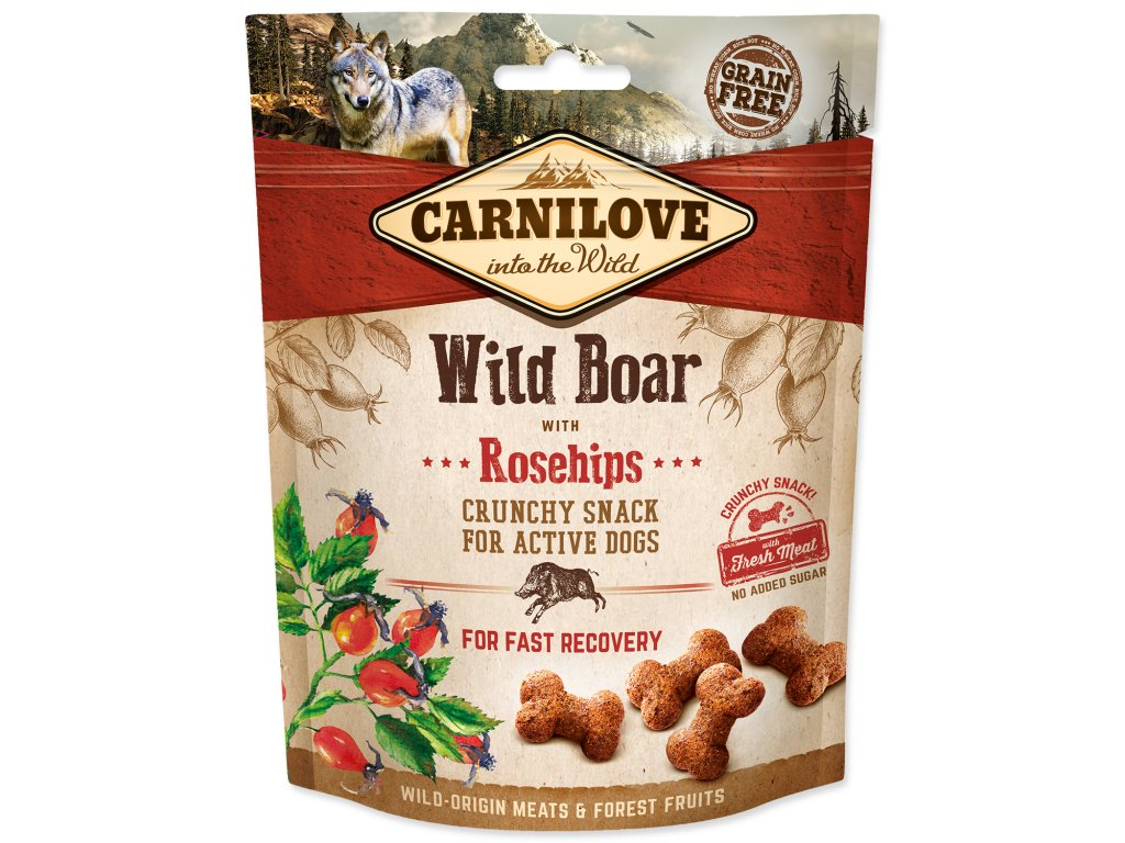 Carnilove Crunchy Wild Boar with Rosehips 200 g