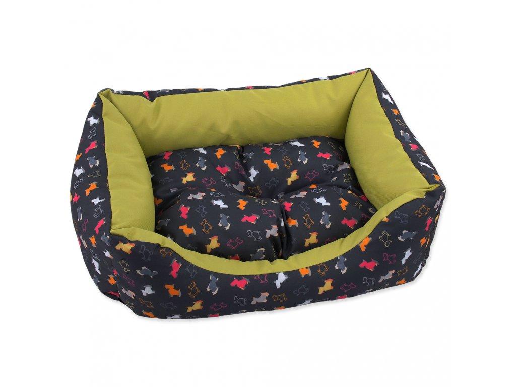 2663 1 sofa dog fantasy origami pes mix cerno zelene 53 cm