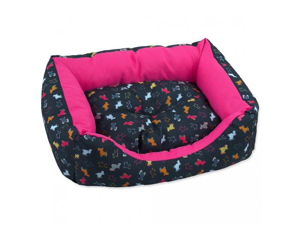 2657 1 sofa dog fantasy origami pes mix cerno ruzove 63 cm