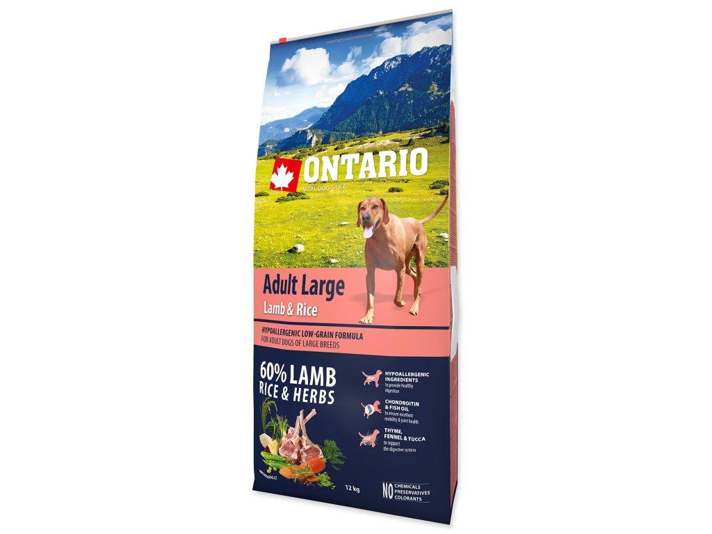 1211 ontario adult large lamb rice 12 kg