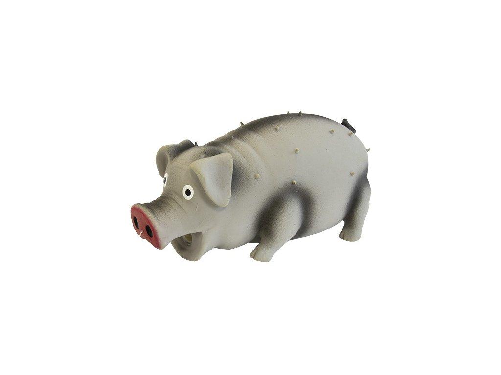 Hračka DOG FANTASY latex chrochtající prasátko 10 cm