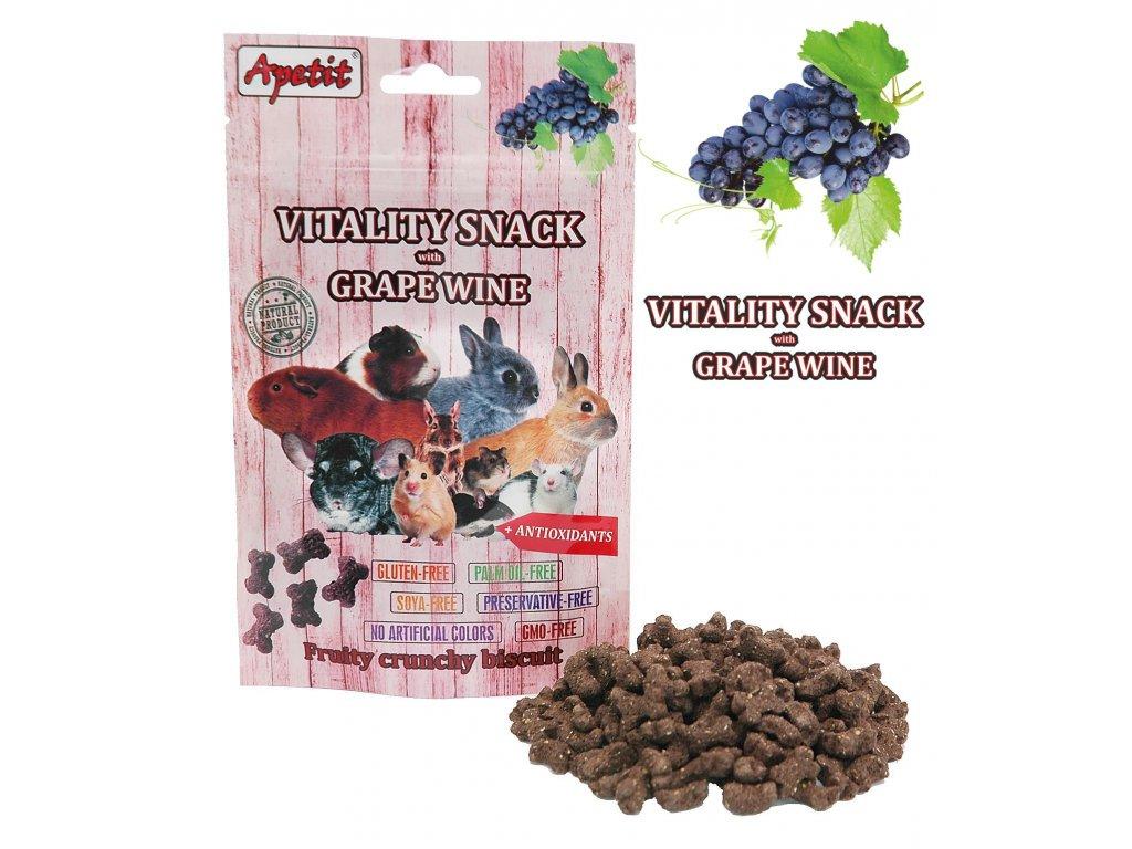 Apetit Vitality snack s hroznovým vínem 80 g