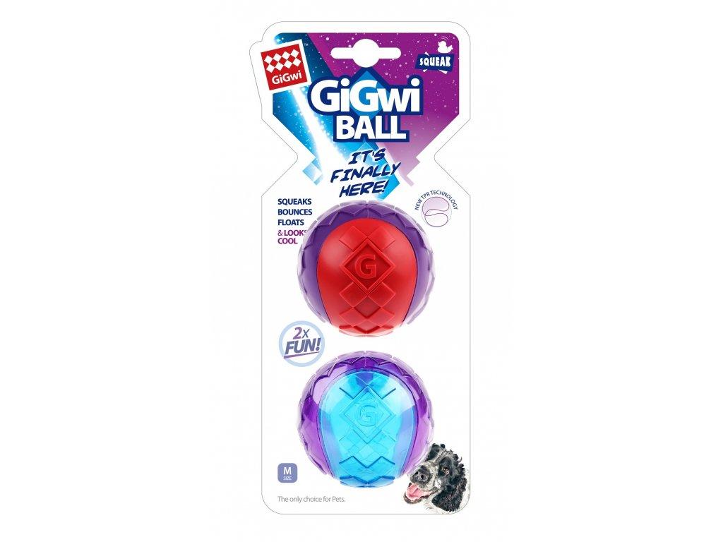 GiGwi Ball míček pískací velikost M 2 ks