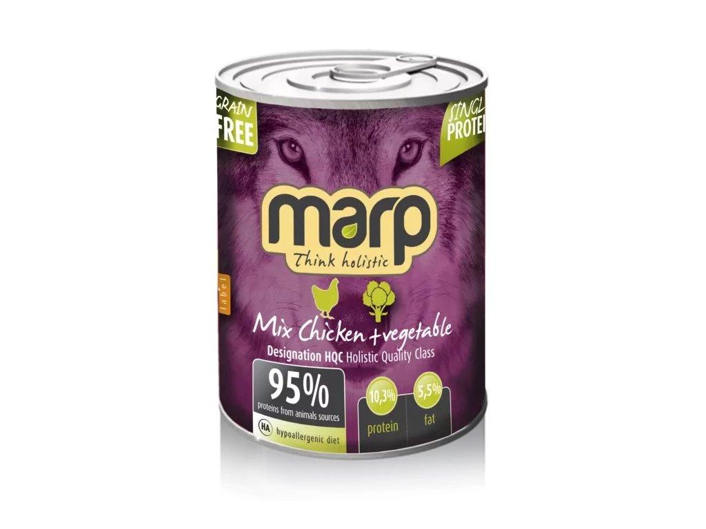 MARP mix konzerva pro psy kuře + zelenina 400 g
