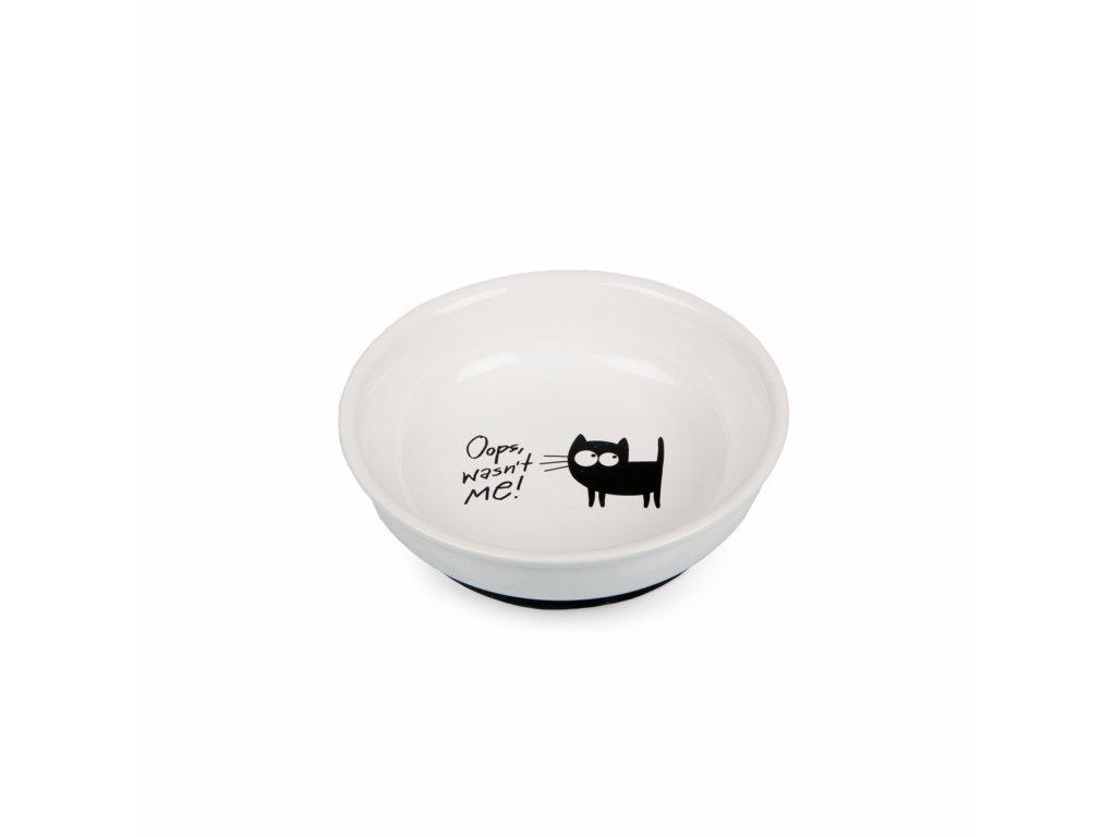 Keramický talířek s kočkou