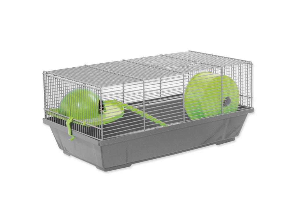 Small Animals klec Erik šedá, výbava zelená 50,5 x 28 x 25 cm