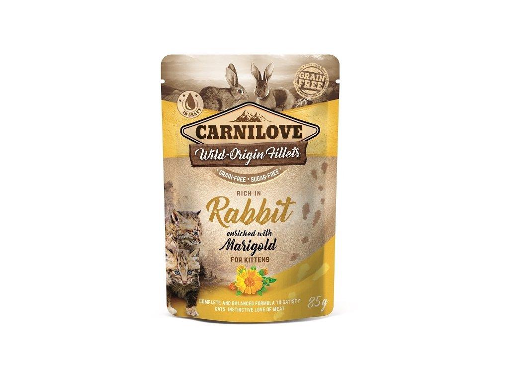 6992 carnilove cat pouch kitten rabbit enriched marigold 85 g