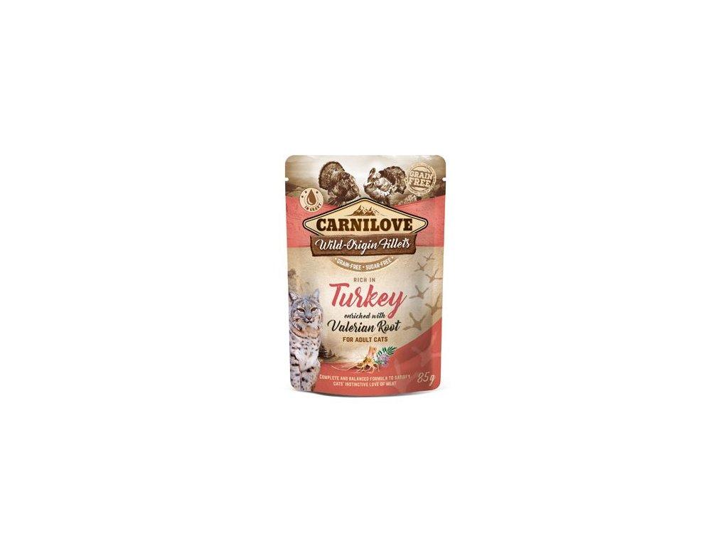 7004 carnilove cat pouch turkey enriched valerian 85 g