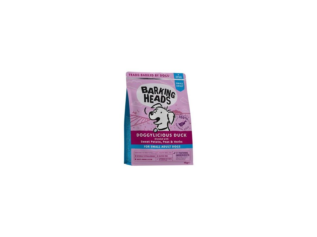BARKING HEADS Doggylicious Duck (Small breed) 4 kg