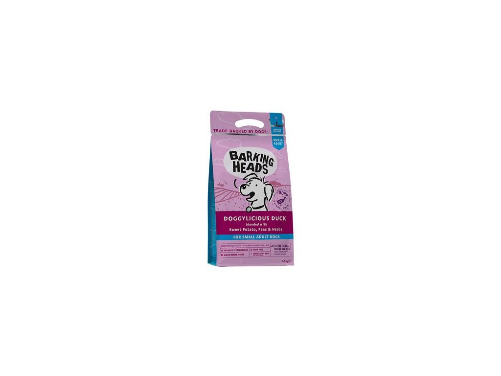 BARKING HEADS Doggylicious Duck (Small Breed) 1,5 kg