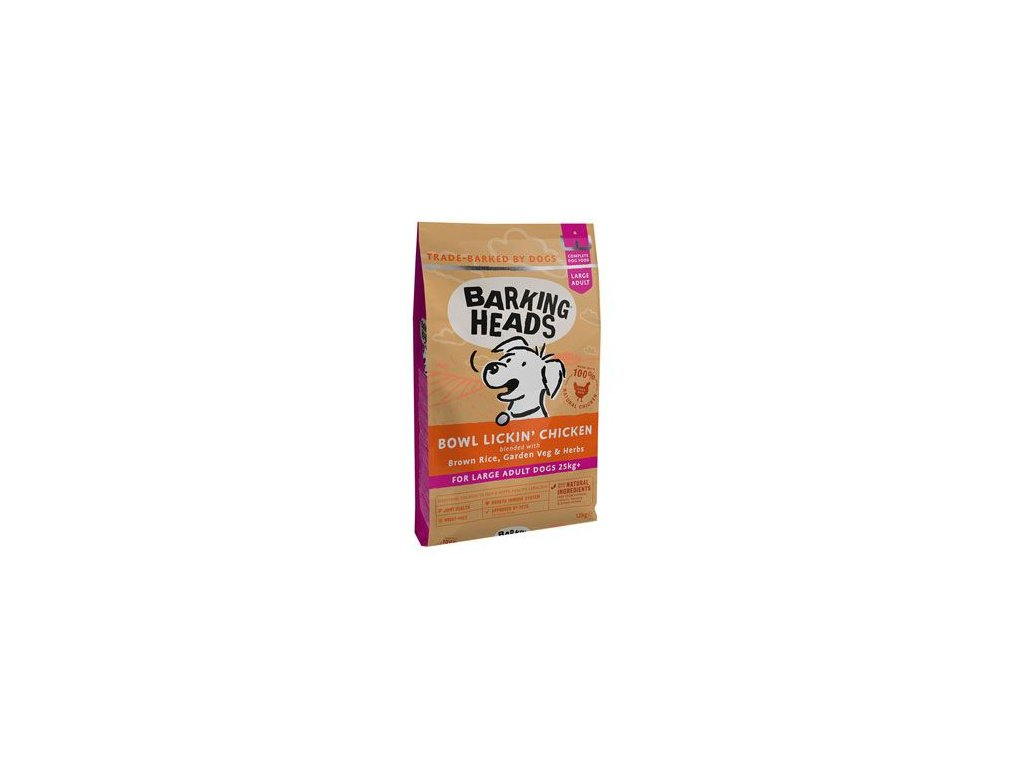BARKING HEADS Bowl Lickin' Chicken (Large Breed) 12 kg