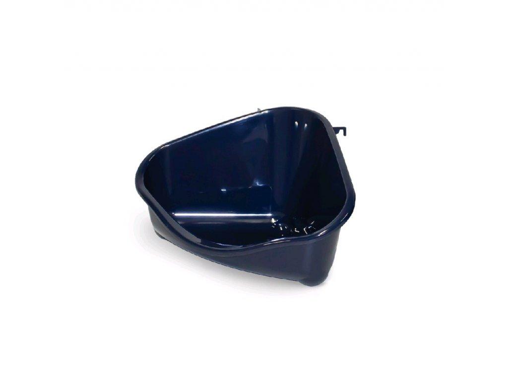 Rohový záchod pro králíky vel. M tm. modrý