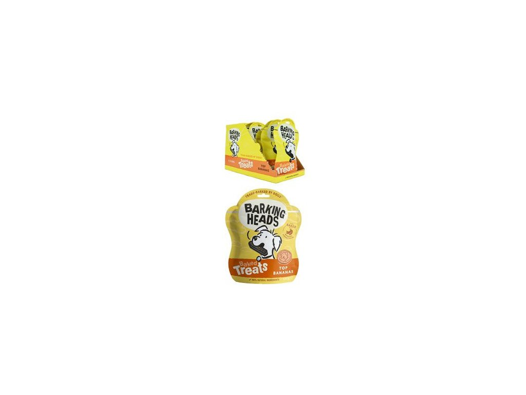 BARKING HEADS Baked Treats Top Bananas 100 g