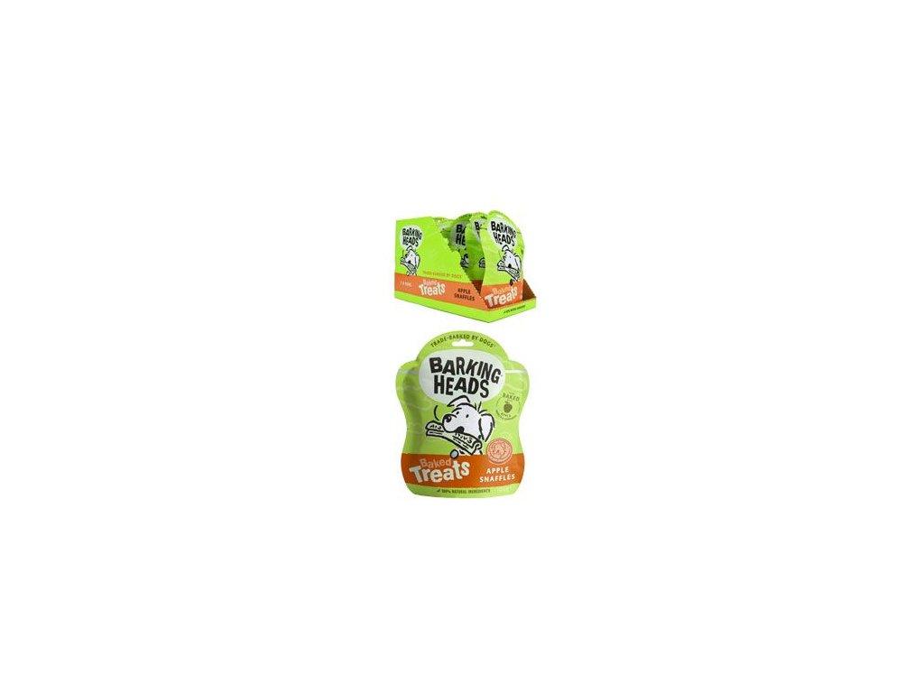 BARKING HEADS Baked Treats Apple Snaffles 100 g