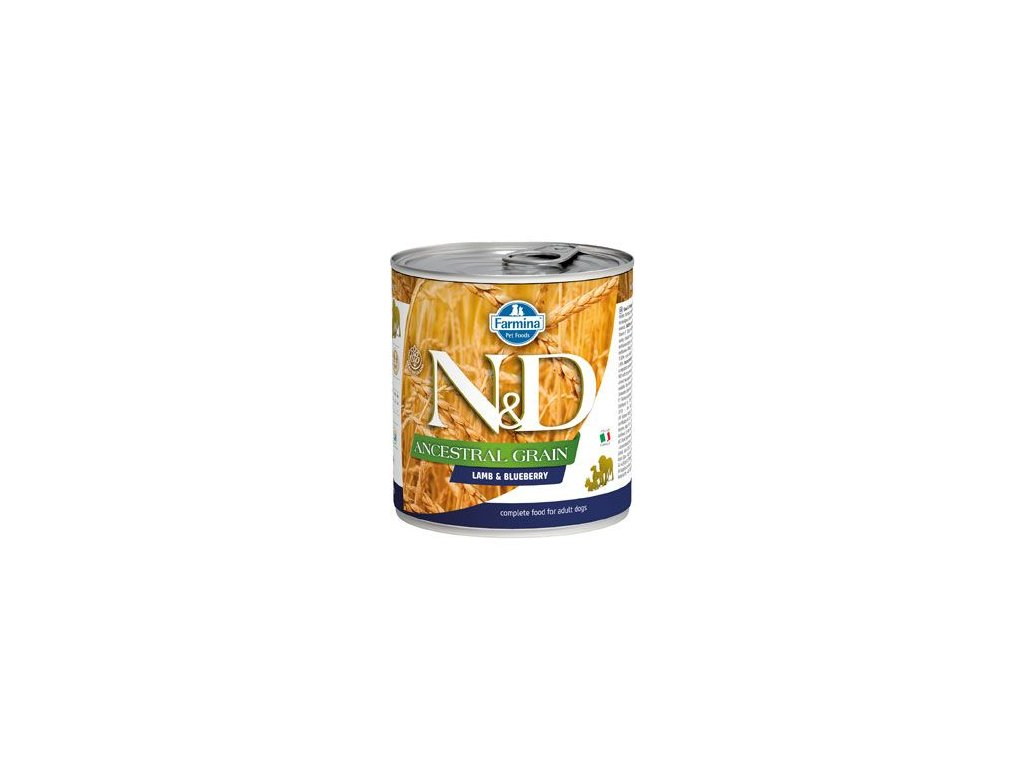 N&D DOG LOW GRAIN Adult Lamb & Blueberry 285 g