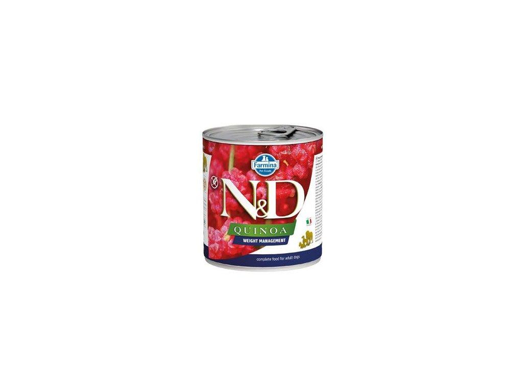 N&D DOG QUINOA Adult Weight Management Lamb & Brocolli 285 g