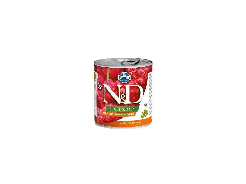 N&D DOG QUINOA Adult Herring & Coconut 285 g