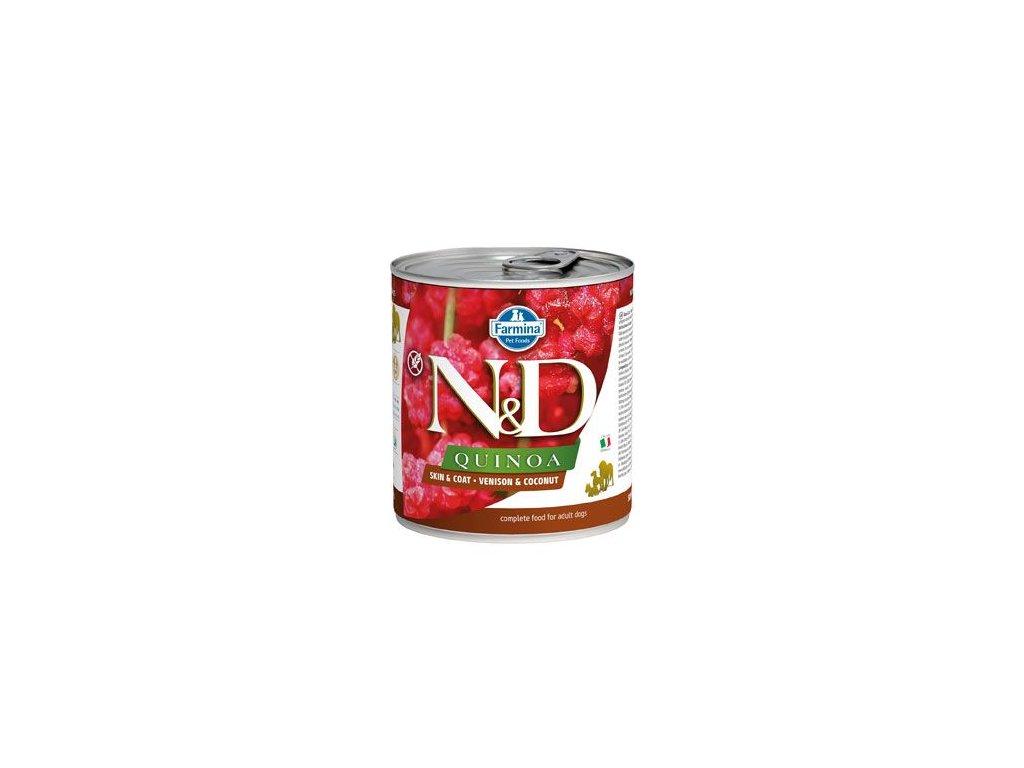 N&D DOG QUINOA Adult Venison & Coconut 285 g