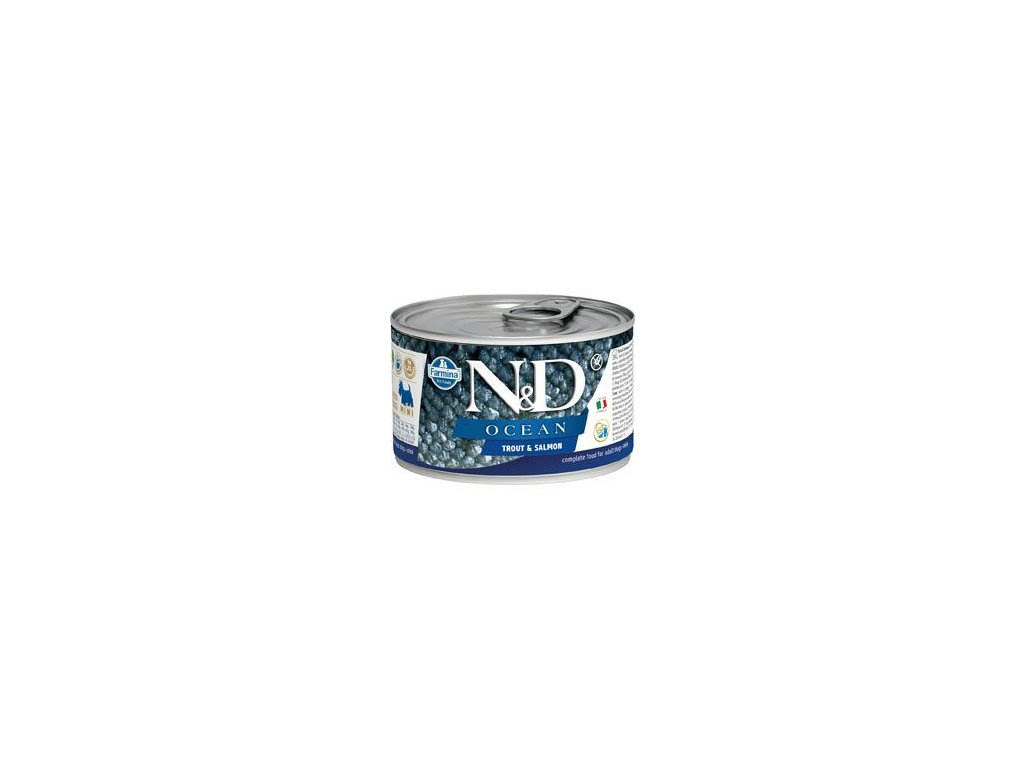N&D DOG OCEAN Adult Trout & Salmon Mini 140 g