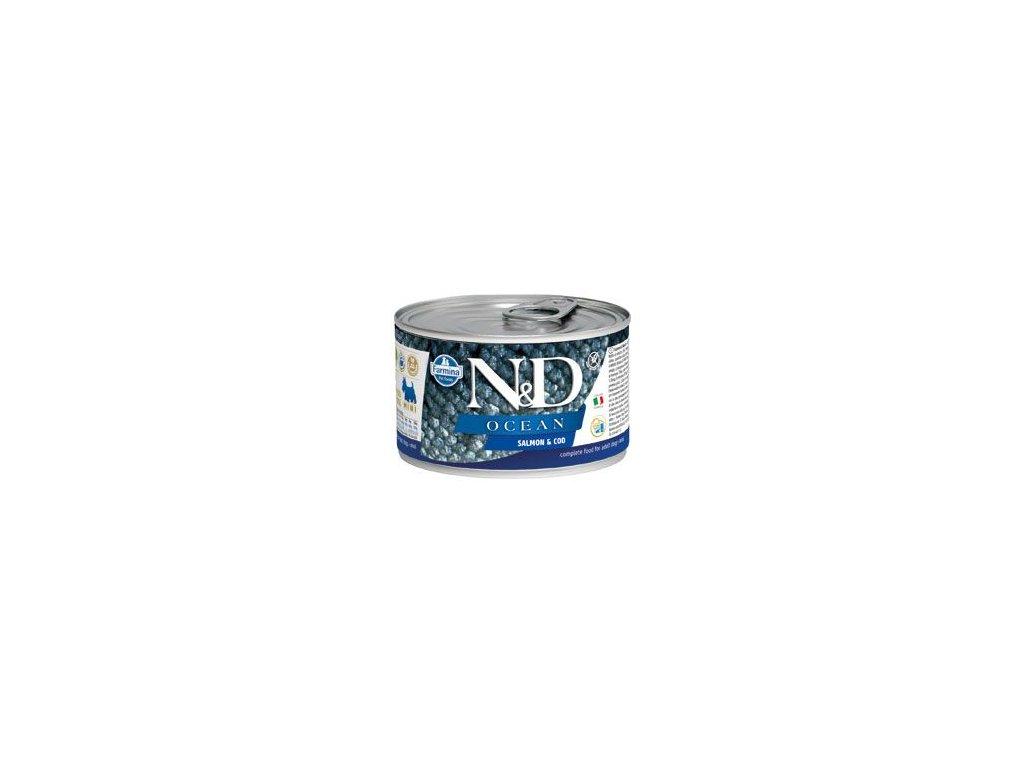 N&D DOG OCEAN Adult Salmon & Codfish Mini 140 g