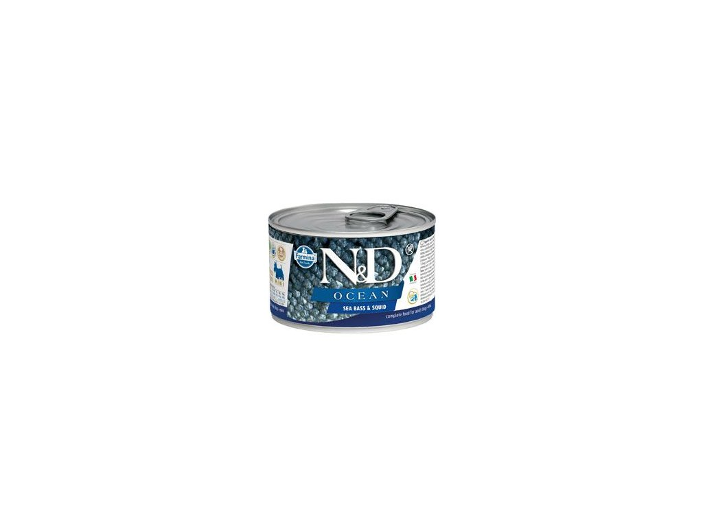 N&D DOG OCEAN Adult Codfish & Squid Mini 140 g